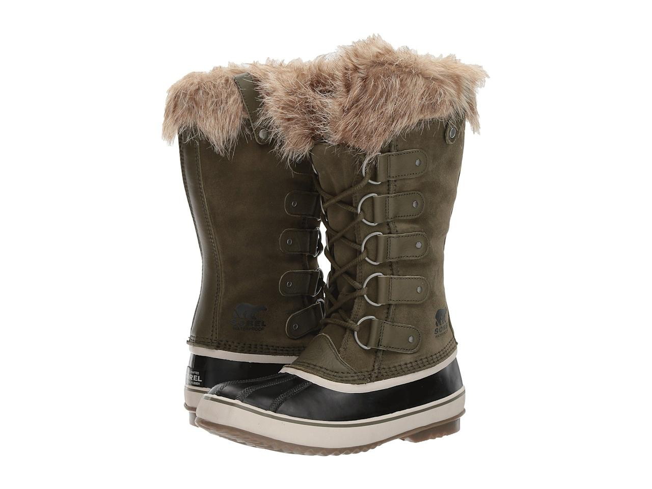 "<p>Sorel's Joan of Arctic boot has become a modern day classic, boasting the best of fashion and function. These waterproof wonders stylishly conquer whatever weather Mother Nature dishes out. So comfy and good looking, you won't wait for snow as an excuse to sport them. Plus, we love the cozy faux fur detail.<br /><a rel=""nofollow"" href=""https://fave.co/2Tni1J3""><strong>Shop it:</strong> </a>$190, <a rel=""nofollow"" href=""https://fave.co/2Tni1J3"">zappos.com</a> </p>"