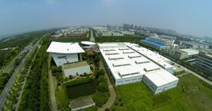 Aerial photo of the Scanfil's Suzhou factory in China. Expansion will be located on the right hand corner.