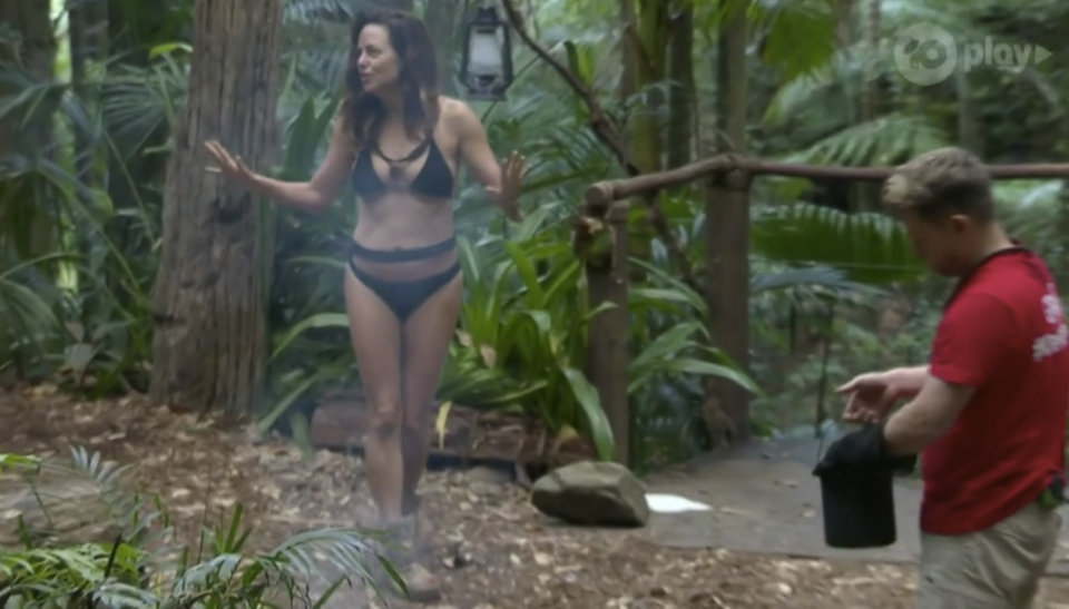Toni Pearen stunned her campmates and fans when she showed off her bikini body on Tuesday night. Photo: Ten