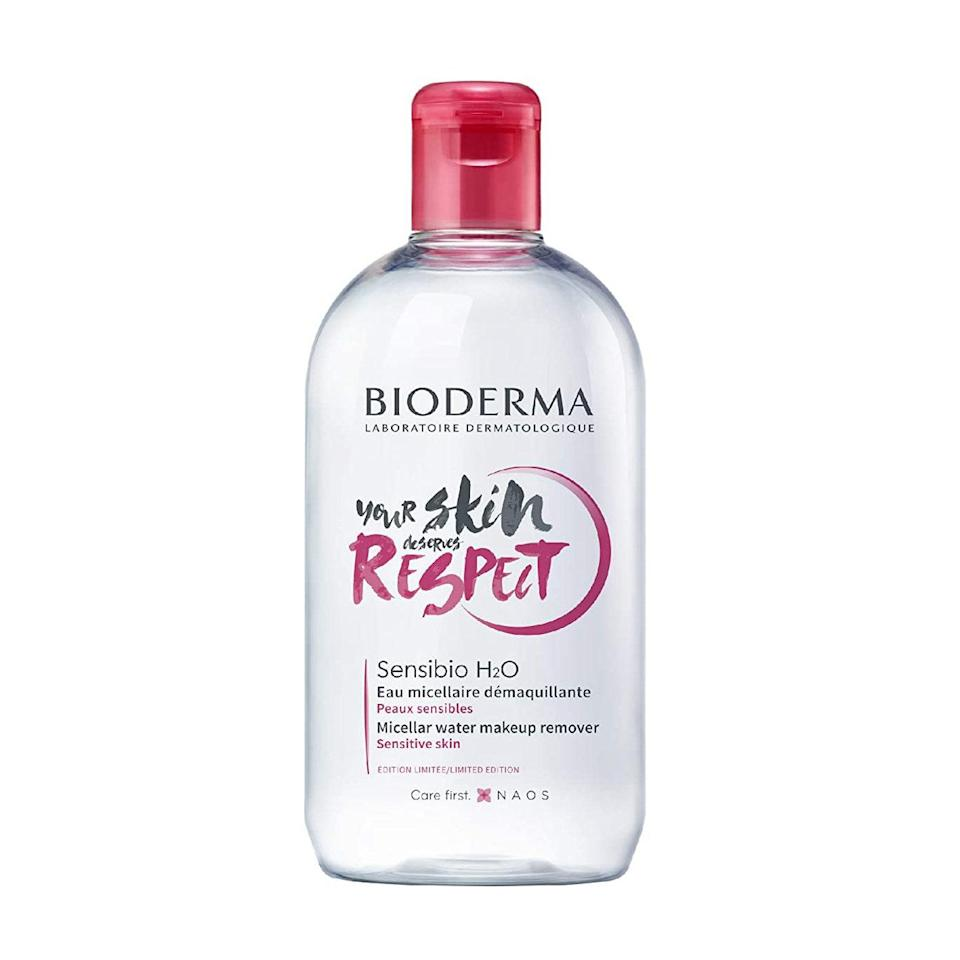 """A top-rated micellar water that will leave your skin squeaky clean on days when you do choose to wear makeup. $15, Amazon. <a href=""""https://www.amazon.com/Limited-Bioderma-Cleansing-Refreshing-Sensitive/dp/B084THYZF6/ref=sr_1_1_sspa?"""" rel=""""nofollow noopener"""" target=""""_blank"""" data-ylk=""""slk:Get it now!"""" class=""""link rapid-noclick-resp"""">Get it now!</a>"""