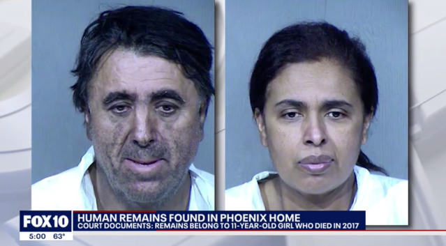 56-year-old Rafael Loera (left) and 50-year-old Maribel Loera were arrested following the discovery. Source: Fox 5