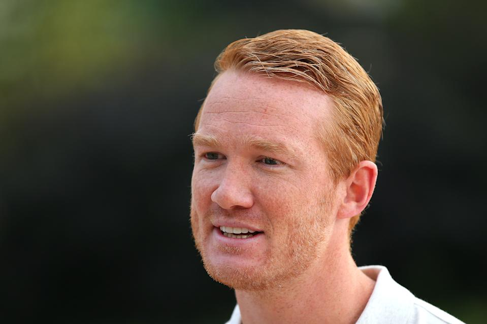 Greg Rutherford, pictured here in July 2019, urges men to check their testicles. (Getty Images)