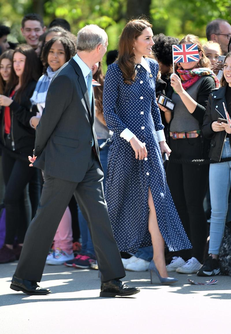 The Duchess of Cambridge arrives for a visit to Bletchley Park (PA Wire/PA Images)