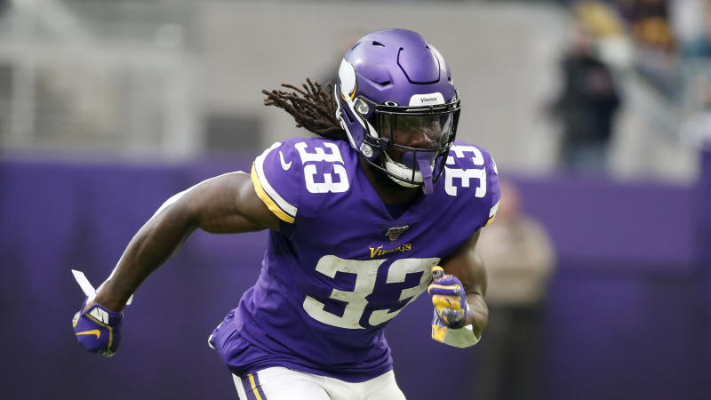 Minnesota Vikings running back Dalvin Cook runs up field during the first half of an NFL football game against the Philadelphia Eagles, Sunday, Oct. 13, 2019, in Minneapolis. (AP Photo/Bruce Kluckhohn)