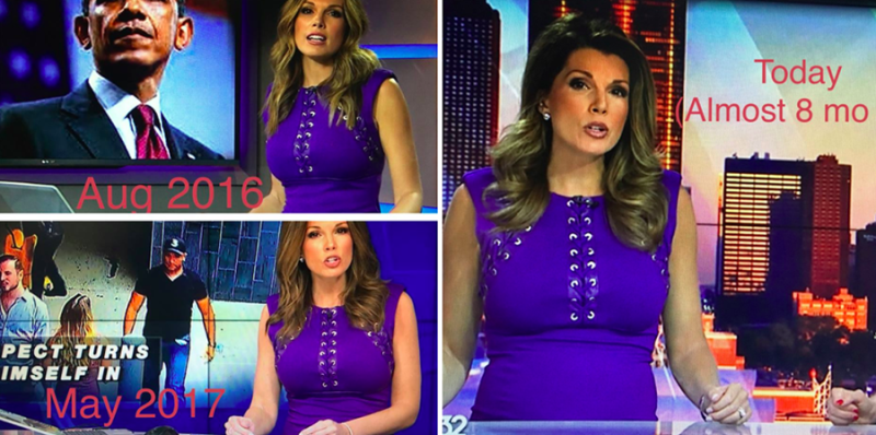 Pregnant news anchor Kristen Nicole responded to body-shamers commenting on how she looks in her dress. (Photo: Facebook/Kristen Nicole)