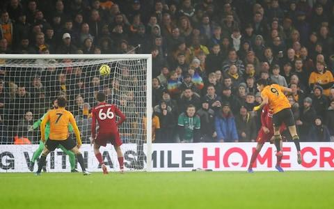 Raul Jimenez equalises for Wolves - Credit: Getty Images