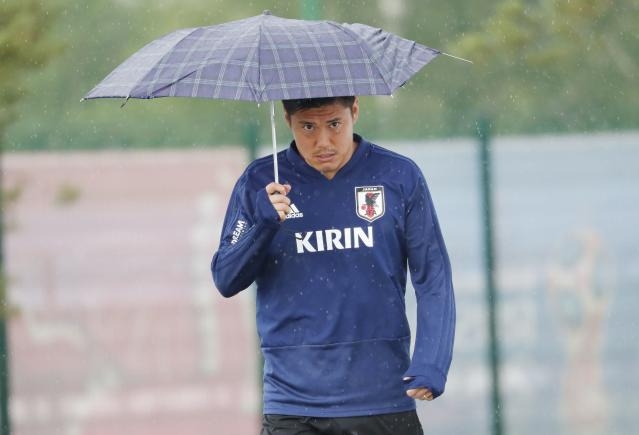 Soccer Football - World Cup - Japan Training - Japan Team Training Site, Kazan, Russia - June 20, 2018 Japan's Eiji Kawashima after the training REUTERS/Toru Hanai