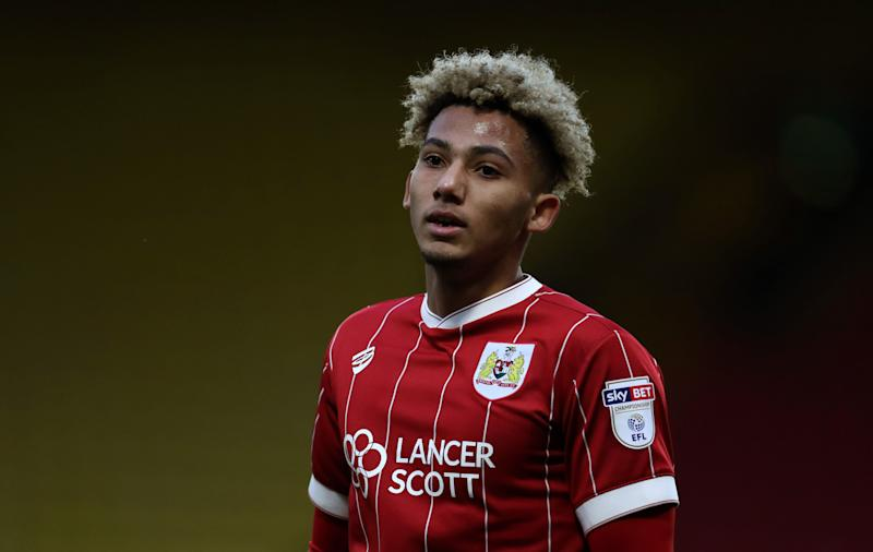 Lloyd Kelly of Bristol City during the Emirates FA Cup Third Round match between Watford and Bristol City at Vicarage Road.