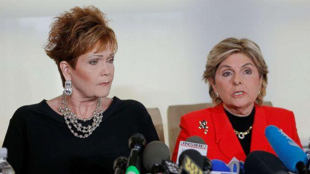 PHOTO: Beverly Nelson (L) speaks to reporters with attorney Gloria Allred during a news conference announcing new allegations of sexual misconduct against Alabama Republican congressional candidate Roy Moore, in New York, Nov. 13, 2017. (Lucas Jackson/Reuters)
