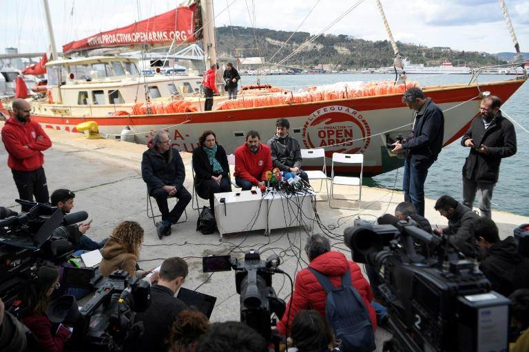 Spanish NGO Proactiva Open Arms spoke to the media in Spain after its rescue boat was impounded in Italy