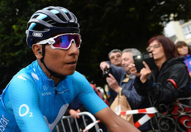 Nairo Quintana will be a key component in Colombia's world title effort on Sunday (AFP Photo/MIGUEL RIOPA)