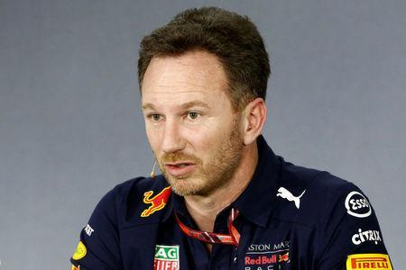 FILE PHOTO: Formula One F1 - Australian Grand Prix - Melbourne Grand Prix Circuit, Melbourne, Australia - March 23, 2018 Red Bull Team Principal Christian Horner during the press conference REUTERS/Brandon Malone