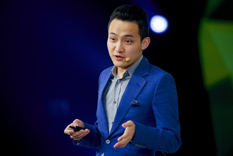 Chinese cryptocurrency entrepreneur Justin Sun speaks at a financial forum in Beijing, China November 4, 2015. Picture taken November 4, 2015. REUTERS/Stringer ATTENTION EDITORS - THIS IMAGE WAS PROVIDED BY A THIRD PARTY. CHINA OUT.