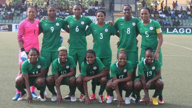 The Super Falcons qualified for their 13th appearance in the African women's top competition after brushing aside the Queen Scorpions