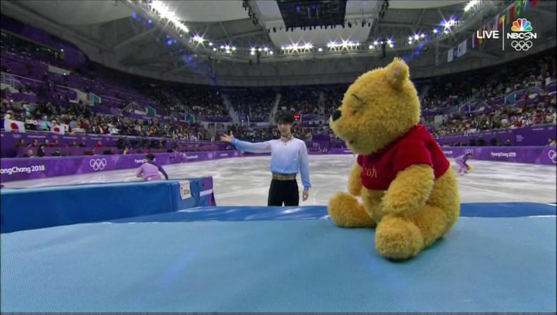 Here's what Yuzuru Hanyu does with all those Winnie the Pooh bears