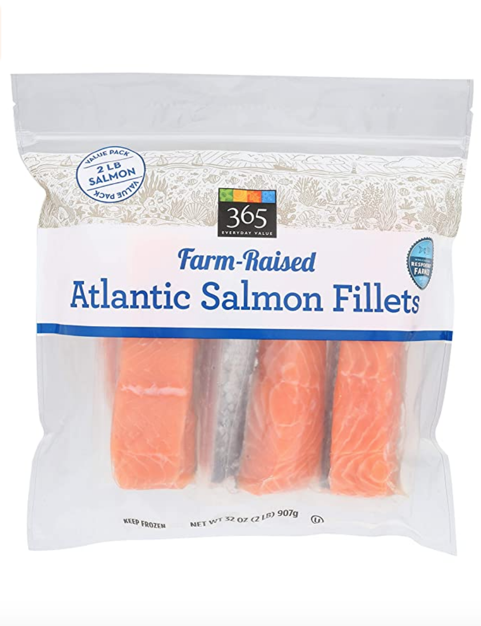 """<p><a class=""""link rapid-noclick-resp"""" href=""""https://www.amazon.com/365-Everyday-Value-Atlantic-Fillets/dp/B07NRCDJNX/ref=sr_1_1_0g_wf?almBrandId=VUZHIFdob2xlIEZvb2Rz&dchild=1&fpw=alm&keywords=365+Everyday+Value%2C+Farm-Raised+Seafood+Value+Pack%2C+Atlantic+Salmon+Fillets&qid=1594335567&s=grocery&sr=1-1&tag=syn-yahoo-20&ascsubtag=%5Bartid%7C10049.g.36302562%5Bsrc%7Cyahoo-us"""" rel=""""nofollow noopener"""" target=""""_blank"""" data-ylk=""""slk:BUY NOW"""">BUY NOW</a></p><p>We get it: Frozen fish seems like a weird item to put on a roundup of best sellers...but you haven't tried Whole Foods' frozen Atlantic Salmon Fillets yet. Just you wait.</p>"""