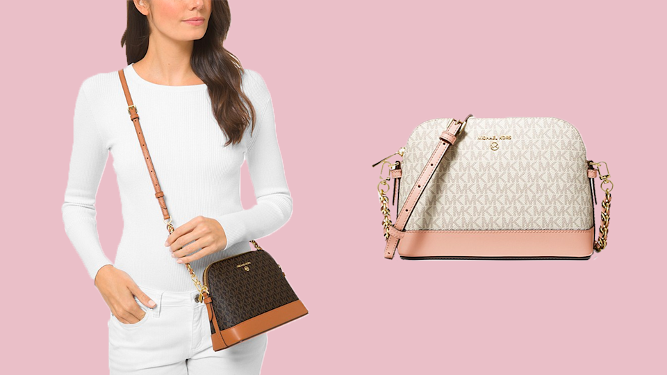 Get this canvas crossbody for less than $150 during the Michael Kors fall sale.