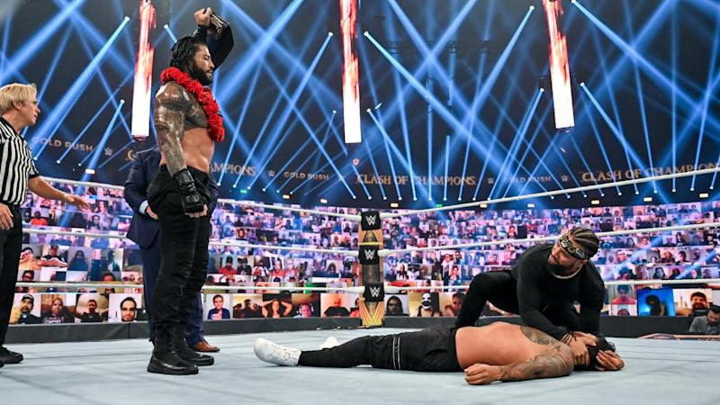 Roman Reigns triumphed against his cousin Jey UsoWWE