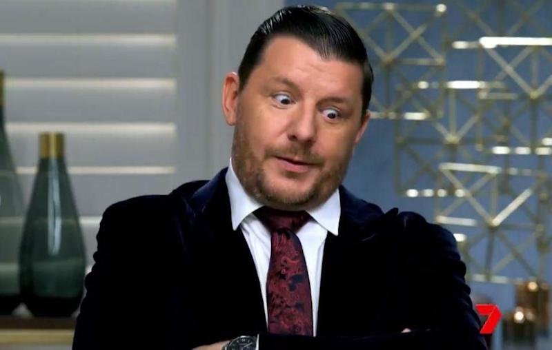 My Kitchen Rules judge Manu Feildel has opened up about the decision to send a team home for their 'threatening' and 'uncomfortable' behaviour. Source: Channel Seven