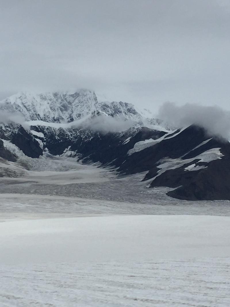 Where our ski plane landed on the glacier. (Photo by Simon Johnson)