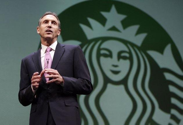 Starbucks chairman questions the 'moral fibre' of the US
