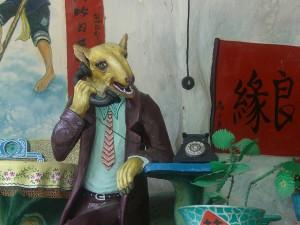Weasel on the phone