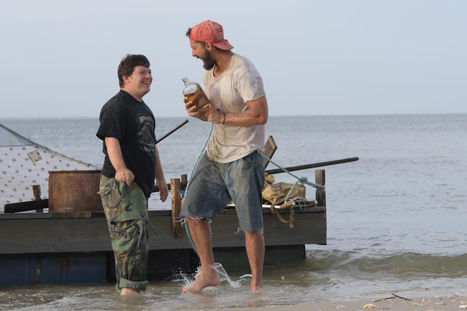 Zack Gottsagen and Shia LaBeouf in The Peanut Butter Falcon.
