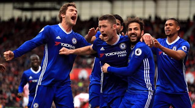 All the top-flight hapennings of the day, as Chelsea leave it late to go 13 points clear at the top of the Premier League