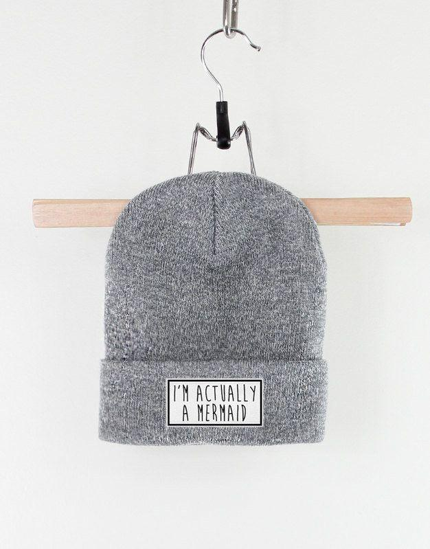 """I'm Actually A Mermaid Beanie, $18.72, <a href=""""https://www.etsy.com/listing/221366262/im-actually-a-mermaid-beanie?ga_order=most_relevant&ga_search_type=all&ga_view_type=gallery&ga_search_query=mermaid&ref=sr_gallery_23"""" target=""""_blank"""">Etsy</a>"""