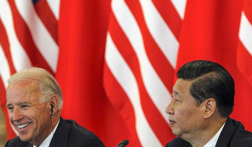 Joe Biden and Xi Jinping pictured during talks in Beijing in 2011, when they were both vice-presidents. Photo: Reuters