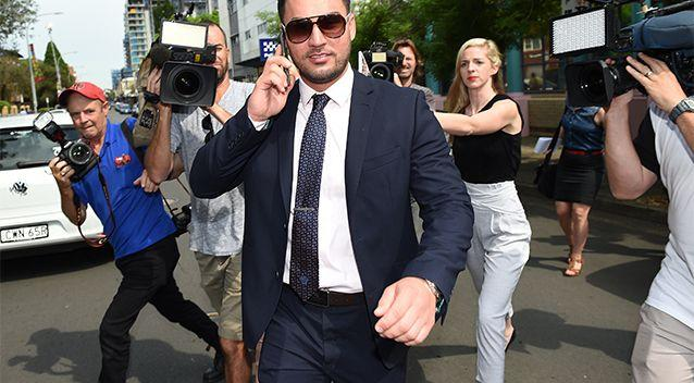 Salim Mehajer, deputy mayor of Auburn, departs Burwood Local Court in Sydney last year. Photo: AAP