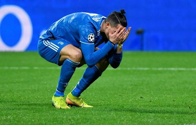 Cristiano Ronaldo and Juventus were poor against Lyon on Wednesday (AFP Photo/Philippe DESMAZES)