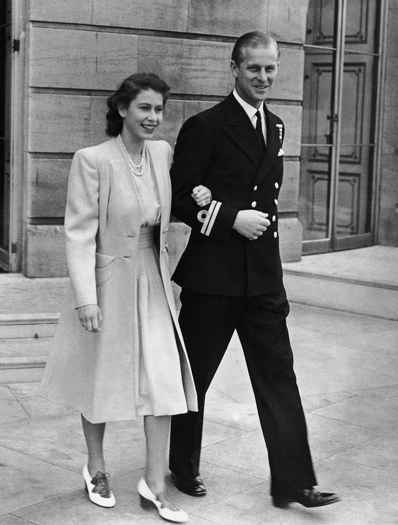 <p>Announcing their engagement at Buckingham Palace.</p>