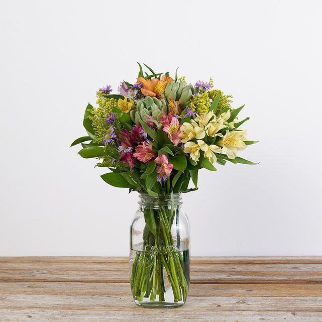 """For a gift that keeps on giving, hook them up with a monthly flower subscription service to The Bouqs Co. The member perks are really good—we're talking 30% off seasonal blooms, plus you can always switch up recipients or skip deliveries. Members also get a $120 annual credit ($10 per month) to use on regular or special-occasion orders, like <a href=""""https://www.glamour.com/gallery/gifts-for-new-moms?mbid=synd_yahoo_rss"""" rel=""""nofollow noopener"""" target=""""_blank"""" data-ylk=""""slk:Mother's Day"""" class=""""link rapid-noclick-resp"""">Mother's Day</a>. The company sources its fresh-flower bouquets from eco-friendly farms that minimize waste, recycle water, and use sustainable growing practices. The Bouqs ships to all 50 states. $59, Wild About U. <a href=""""https://bouqs.com/flowers/all/succulents-daisies-alstroemeria"""" rel=""""nofollow noopener"""" target=""""_blank"""" data-ylk=""""slk:Get it now!"""" class=""""link rapid-noclick-resp"""">Get it now!</a>"""