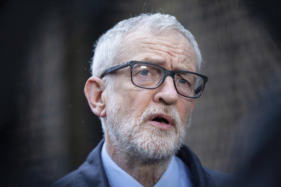 File photo dated 15/03/20 of former Labour leader Jeremy Corbyn ahead of the release of a report by the Equality and Human Rights Commission (EHRC) report into how the Labour Party has handled the anti-Semitism crisis. The report comes after years of complaints over how allegations of anti-Semitism were dealt with under Jeremy Corbyn's leadership.