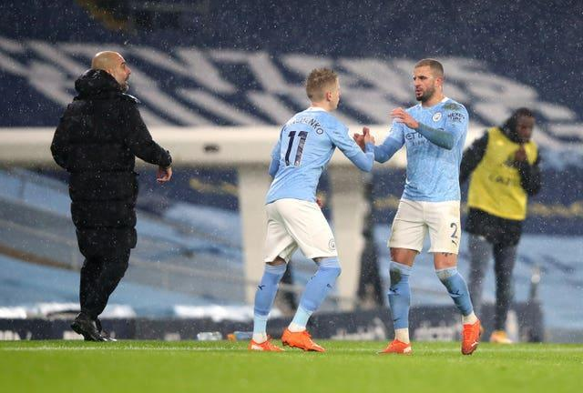 Kyle Walker is among the Manchester City team-mates Oleksandr Zinchenko is facing on Saturday