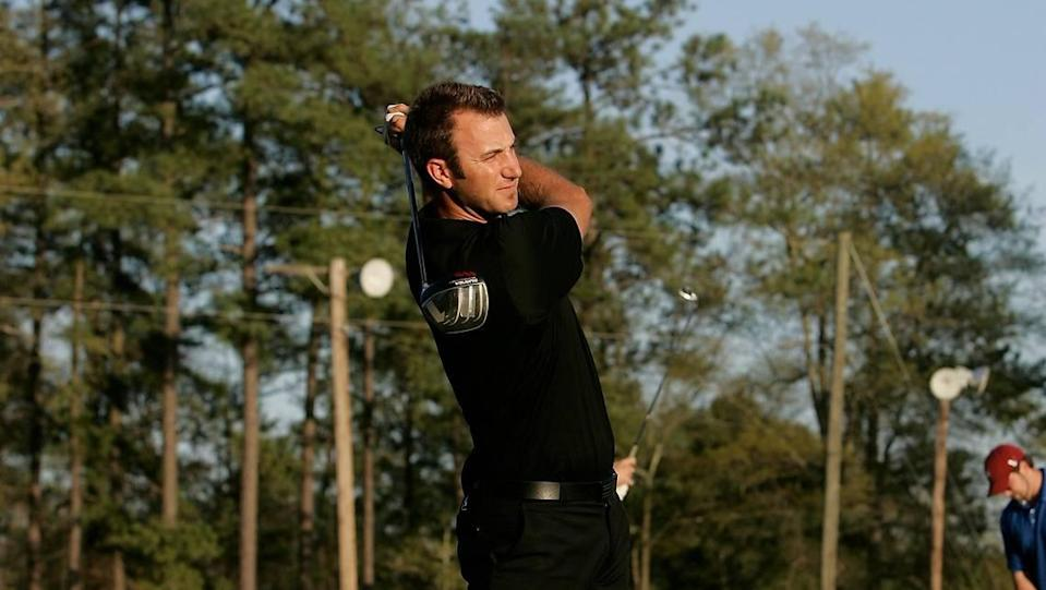 March 31, 2010: Dustin Johnson at the Weed Hill driving range in Irmo.