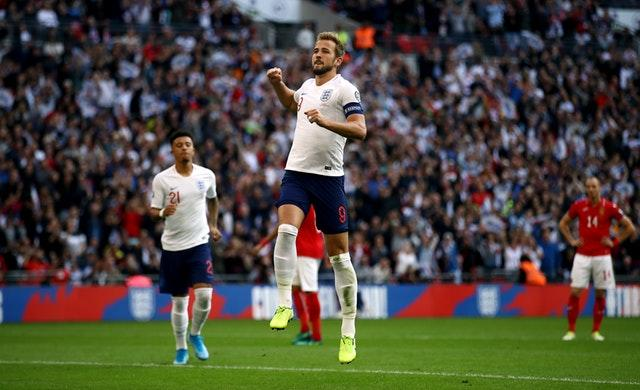 Harry Kane was the hat-trick hero against Bulgaria (Tim Goode/PA)