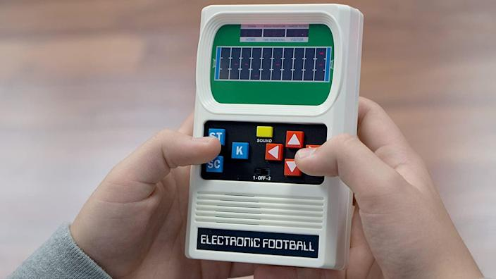<p>This <span>Basic Fun Retro Handheld Football Electronic Game</span> ($15) packs a healthy dose of joy (and nostalgia).</p>