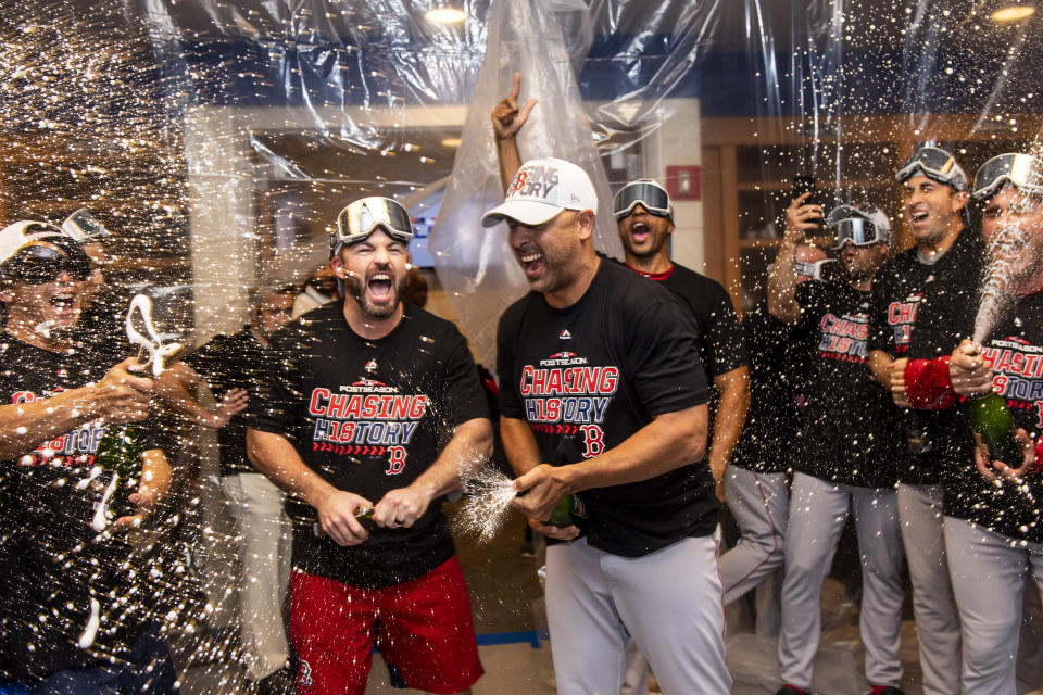 Alex Cora is impossible to quantify, and yet the fashion in which he out-managed Aaron Boone in the Division Series is likewise impossible to deny. (Getty Images)