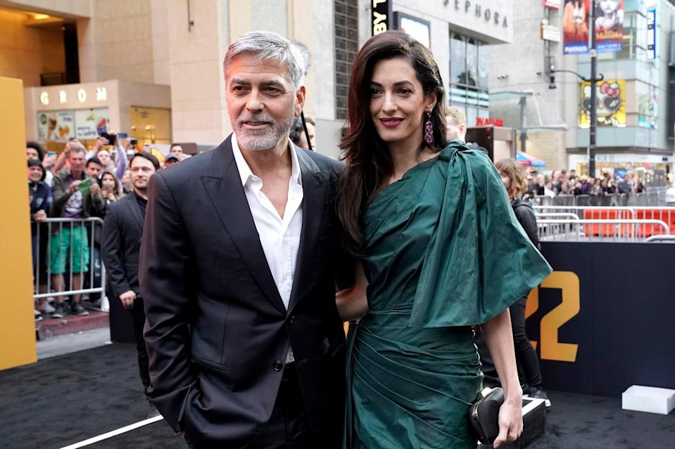 Amal and George Clooney (Getty Images for Hulu)