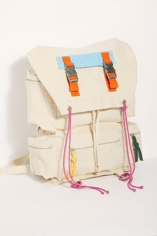 """Want your backpack to have a bit of color but not too much? This backpack, available at Free People, is your best bet. Plus, it's on sale! $88, Free People. <a href=""""https://www.freepeople.com/shop/campsite-cargo-backpack/?category=SEARCHRESULTS&color=014"""">Get it now!</a>"""