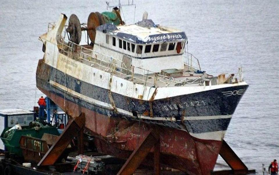 The wreck of the Bugaled Breizh (Field Fisher/PA) (PA Media)