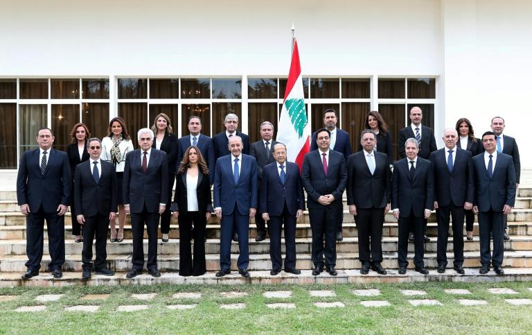After months of protests, Lebanon's new prime minister Hassan Diab finally unveiled his new cabinet said to be a government of technocrats (AFP Photo/-)