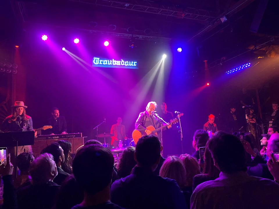 John Prine performs at the Americana Music Association's Pre-Grammy salute to Willie Nelson at the Troubadour in West Hollywood, Calif., January 25, 2020.