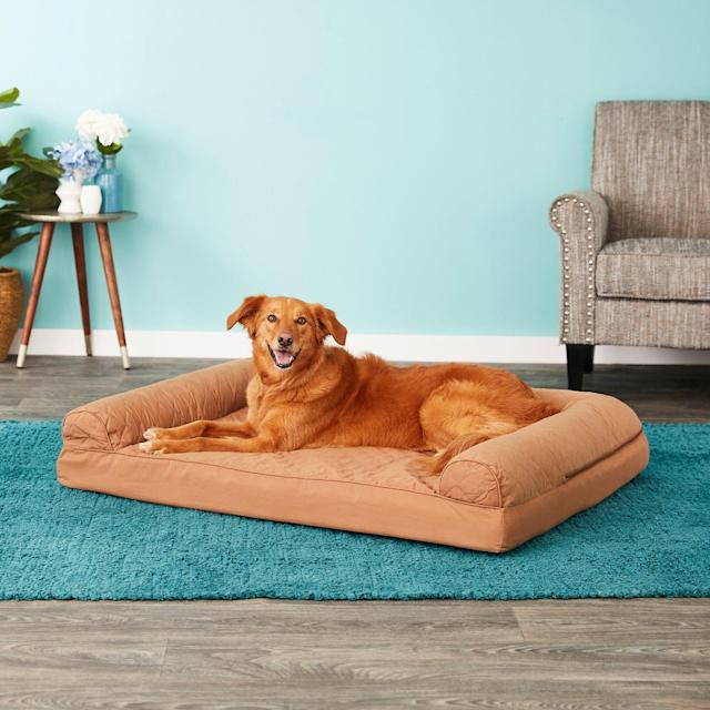 FurHaven Quilted Orthopedic Sofa Dog & Cat Bed (Photo: Chewy)