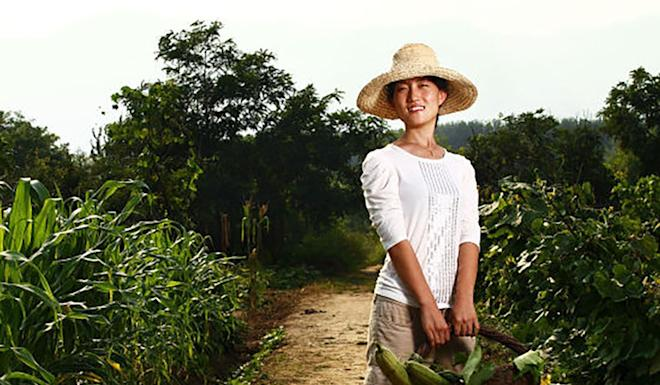 Shi Yan is a farmer in China, and the founder of China's first community-supported agriculture (CSA) farm. Photo: Baidu