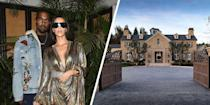 "<p>Kim Kardashian West and her husband, Kanye, purchased a <a href=""https://www.elledecor.com/celebrity-style/celebrity-homes/news/a6749/kim-kanye-hidden-hills-mansion/"" rel=""nofollow noopener"" target=""_blank"" data-ylk=""slk:$20 million estate"" class=""link rapid-noclick-resp"">$20 million estate</a> in Hidden Hills in 2014 right after listing their unfinished Bel Air mansion. The eight-bedroom property includes two pools, two spas, and its own vineyard.</p>"