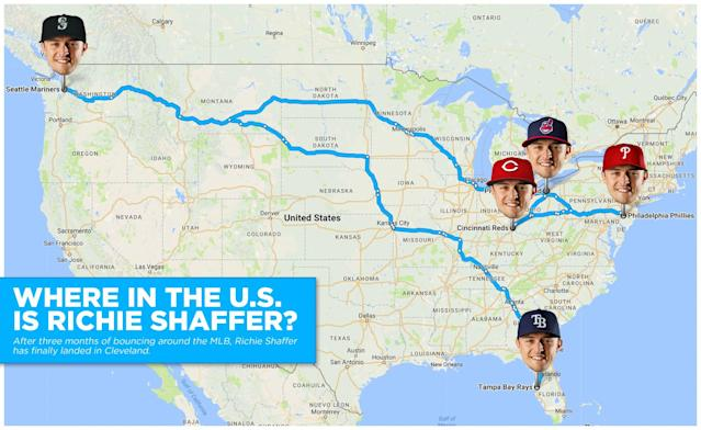 Where in the world did Richie Shaffer spend his offseason? (Amber Matsumoto/Yahoo Sports)