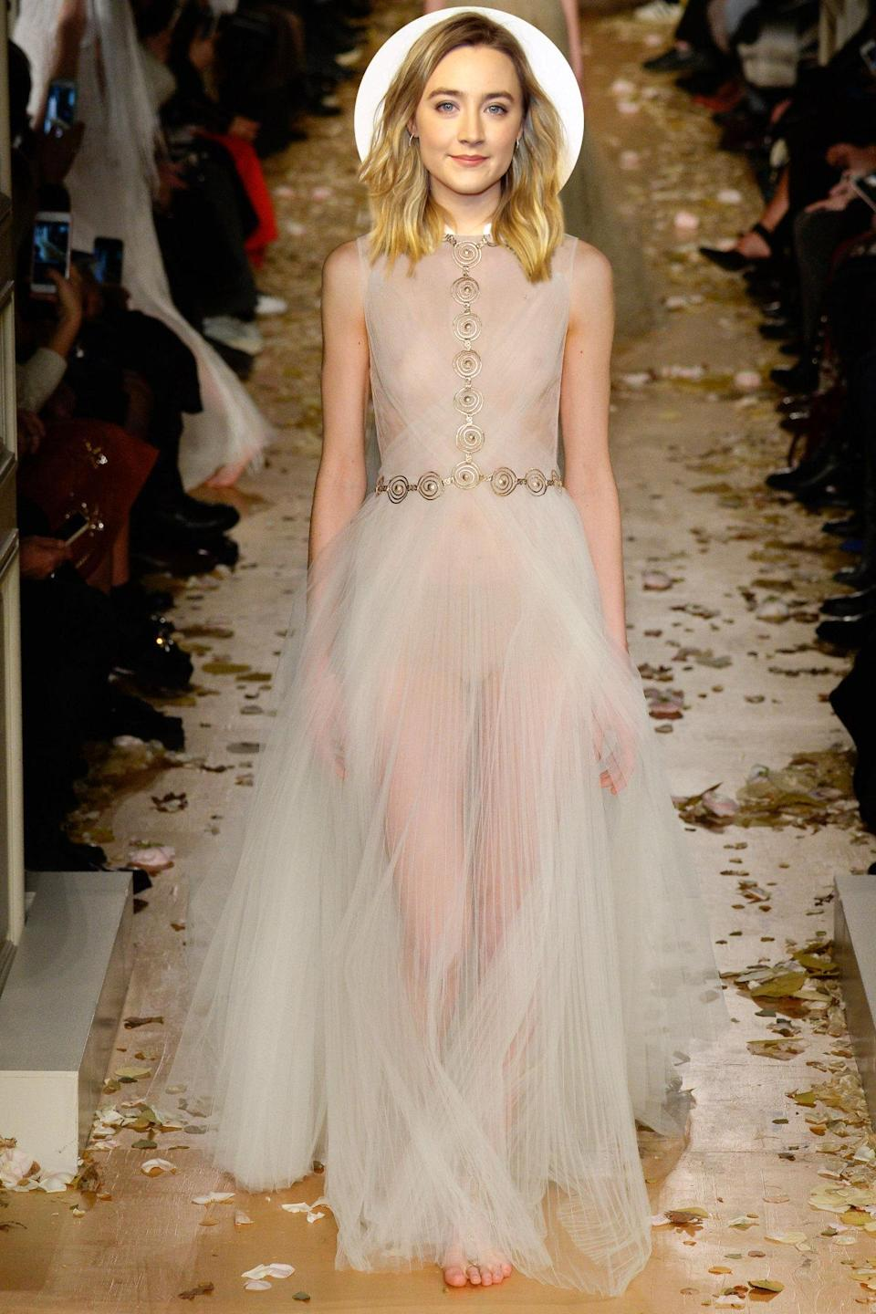 <p>Ronan has been having a nonstop red carpet moment this year — why not continue that momentum by arriving at the Oscars in this goddess-like Valentino number?</p>